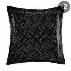 Set of 2 Black Yuko European Pillowcases Alex Perry, Pillowcases, Soft Furnishings, Throw Pillows, Beauty, Beautiful, Black, Pillow Case Dresses, Toss Pillows