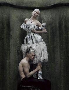 Nathalia Oliveira wears Alexander McQueen for Interview Russia, December 2012.