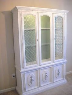I'd love to refinish the hutches in the dining/craft room.  This looks really nice!