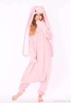 Chakkusu pink rabbit adult onesies