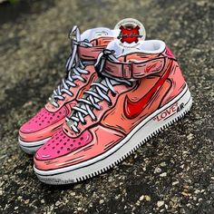 Custom Nike Sneakers - Katty Customs- Wonderful World Sneakers Mode, Custom Sneakers, Sneakers Fashion, Fashion Shoes, Nike Sneakers, Nike Custom Shoes, Sneakers Design, Fashion Outfits, Hype Shoes