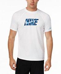Nike Men's Hydro Dri-FIT Graphic-Print Logo Swim Shirt