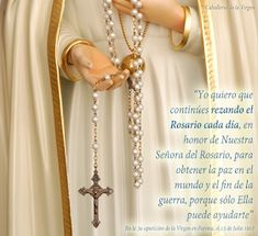 Queen Of The Rosary . pray for us Oracion A San Antonio, Holy Rosary, Prayers For Healing, One Wish, Pray For Us, Two Hearts, Blessed Virgin Mary, Blessed Mother, Bible Verses