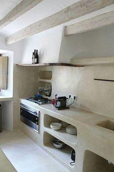 Wonderful Farmhouse Kitchen Ideas Design With Rustic - Kitchen Design Archives 2019 House Design, Concrete Kitchen, Rustic House, House Interior, Home Kitchens, Kitchen Design, Italian Home, Home Decor, Rustic Kitchen