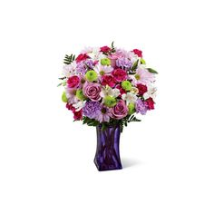 The Lavender Burst Bouquet ($40) ❤ liked on Polyvore featuring home, home decor, floral decor, floral bouquets, personalized home decor, flower bouquets, daisy bouquet and glass flower stems