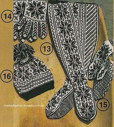 Шапки-варежки-носки ....................................... - Всем, кто вяжет, дарю старые идеи для новых работ
