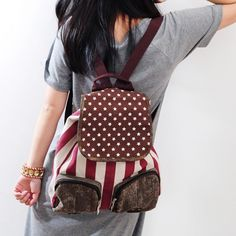 Distressed American Flag Canvas Backpack