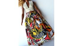 Curvy Barbie Maxi skirt African fashion African style