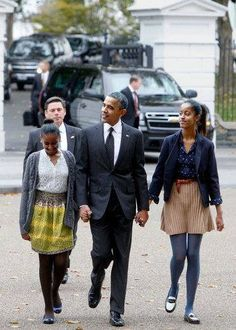 President Obama with his girls!