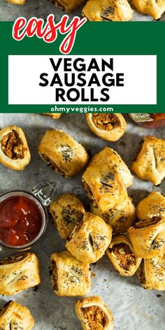 These vegan sausage rolls make a great snack or finger food. They are full of flavour, easy to make and can be gluten-free too! Vegan Sausage Rolls, Lazy Cat Kitchen, Vegan Baking Recipes, Finger Foods, Veggies, Gluten Free, Nutrition, Stuffed Peppers, Snacks