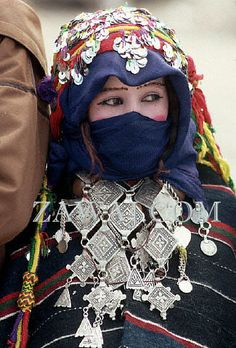 Berber/Amazigh jewelry. Jewelery serves a much wider purpose than simple adornment. The jewelery a woman wears identifies her as a member of a clan or tribe, it is a sign of her wealth, it reflects cultural traditions and it has power beyond the visual, to protect her from the evil eye. Morocco