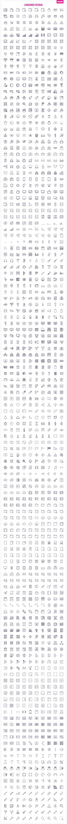 3000 Unigrid icons by Icojam on @creativemarket