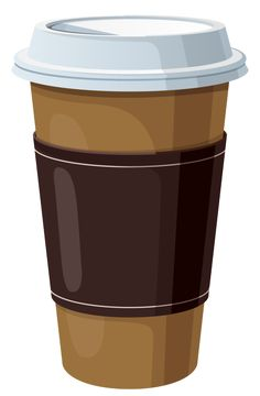 Coffee in Plastic Cup PNG Clipart