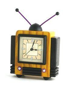 Bakelite/Catalin Clock in the form of a T.V.