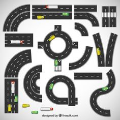Highways collection Free Vector