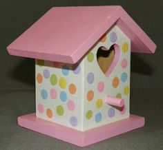 Hand-painted Indoor Decorative Birdhouse and Matching Light Switch Plate with… Bird Houses Painted, Decorative Bird Houses, Bird Houses Diy, Painted Birdhouses, Bird Paper Craft, Bird Nest Craft, Birdhouse Craft, Birdhouse Designs, Birdhouse Ideas