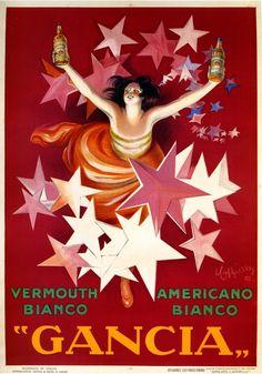 Vintage Italian Posters ~ #Italian #vintage #posters ~ Gancia Italian Advertising Poster by Leonetto Cappiello