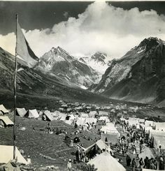 Pilgrim camp Toronto Star file photo    An overnight camp at Panchtarni in the early 1950s, the last overnight stop for pilgrims on their way Amarnath, the famous Hindu shrine. The holy cave of Amarnath is six kilometres from Panchtarni, so people would set out early in the morning and spend the day at the cave before returning.