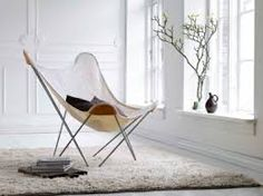 Butterfly stol i Canvas Nature fra Cuero Design Home Decor Trends, Diy Home Decor, Leather Butterfly Chair, Balcony Chairs, Lounge Chairs, Mid Century Modern Armchair, Shabby Chic Table And Chairs, Bedroom Chair, Patio