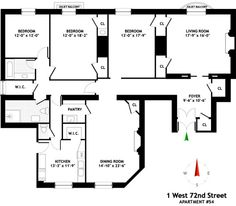 The Dakota- Extremely strange floor plan of Apt. 54