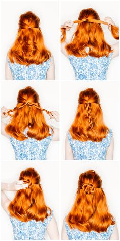 Easy flower braids
