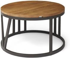 Boston Industrial Large Round Coffee Table