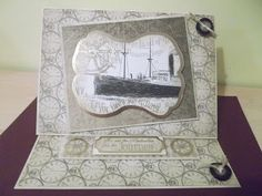 DREAM CARDS by SHARON. Kanban Gentleman's Journal paper craft collection - foiled & die cut toppers with co-ordinating card.