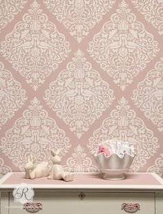 Surrender to love with our new Love Birds Lace Damask Stencil. Filled with swirling floral details and sweet bird motifs, its ideal for