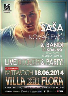 Sasa Kovacevic am 18.06.2014 in München Deutschland (Balkanevent)