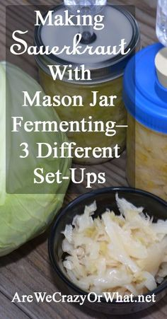 I Look At 3 Mason Jar Fermenting Set-Ups- - Fermentools, Re-Cap And Tattler Lids. Additionally I Give You My Recipe For Sauerkraut. Canning Recipes, My Recipes, Real Food Recipes, Healthy Recipes, Veggie Recipes, Healthy Eats, Favorite Recipes, Making Sauerkraut, Sauerkraut Recipes