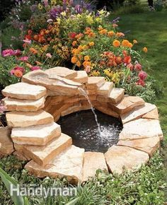40+ Creative DIY Water Features For Your Garden --> How to Build a Concrete Fountain #water #feature #garden #fountain