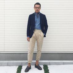 """""""Mi piace"""": 1,240, commenti: 4 - Tomoyoshi Takada (@tomoyoshi_takada) su Instagram: """"""""authentic color combination..."""" #brillaperilgusto #fashion #mensfashion #menswear #mnswr…"""""""
