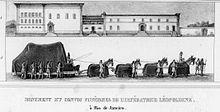 Cortejo fúnebre da Imperatriz Da. Leopoldina, por Debret.
