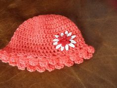 Handmade crocheted baby hat by Happilyevercrafts on Etsy, £4.50