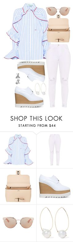 """""""Lunch w family"""" by staydiva ❤ liked on Polyvore featuring Off-White, Delvaux, STELLA McCARTNEY, Christian Dior and mizuki"""
