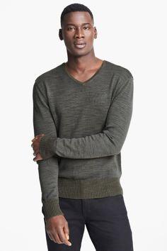 John Varvatos | Long Sleeve V-Neck Sweater | Nordstrom Rack