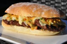 Long Chili Cheese Burger - BBQPit.de