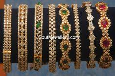 Jewellery Designs: Diamond Bangles Gallery by Kotharis Plain Gold Bangles, Ruby Bangles, Gold Bangles Design, Gold Earrings Designs, Gold Jewellery Design, Silver Bracelets, Gold Jewelry, Gold Designs, Bangle Bracelets