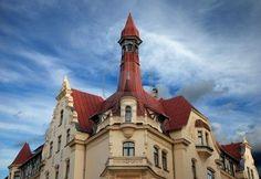 Art Nouveau style (Jugenstil) on a house facade in Riga, Latvia