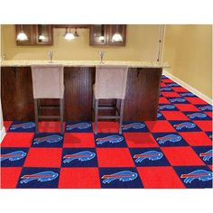 Buffalo Bills Nfl Team Logo Carpet Tiles  @Mary Manning  I'm gunna go ahead and say you totally would do this! lmao
