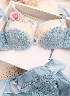 powder blue lingerie / something blue/  for the under it all ♥