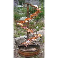 """The Tree of Life 60"""" High Indoor-Outdoor Copper Fountain - #8X022   Lamps Plus"""