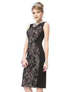 Shop Black Lace Overlay Split Back Bodycon Midi Dress from choies.com .Free shipping Worldwide.$62.99