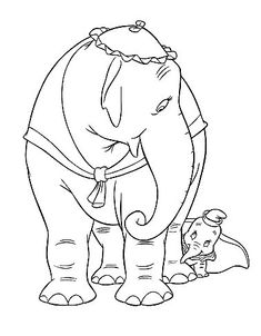 Free Dumbo Coloring Page Pages 24 Printable