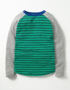 Raglan T-shirt (Crocodile Green/Mini Navy)