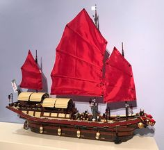 69 Lego Old Ships Ideas – How to build it Lego Pirate Ship, Lego Ship, Pirate Ships, Lego Factory, Lego Boat, Lego Ninjago Movie, Lego Castle, Cool Lego Creations, Lego Design