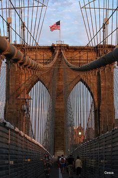 The Brooklyn Bridge ~ New York City, New York #NYC