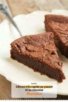 Courgette chocolate cake with Thermomix - thermomix - Cake-Kuchen-Gateau Sweet Recipes, Cake Recipes, Dessert Recipes, Healthy Recipes, Food Cakes, Cupcake Cakes, Chocolate Desserts, Chocolate Cake, Chocolate Yogurt