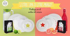 ¿Qué mejor manera de darle la bienvenida al verano que con un nuevo sorteo? Dinos qué vajilla prefieres: Citrus lima o Citrus mango y podrás llevarte la fantástica vajilla que hayas elegido.