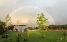 Regenbogen über Blue Lakehouse Haus Am See, Golf Courses, Blue, Poland, Rain Bow